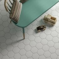 Hexagon Vloertegel Timeless White 15x17 cm Mat Wit (doosinhoud 0.58 m2)