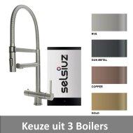 Kokendwaterkraan Selsiuz XL Inclusief Boiler (Keuze uit 3 boilers en 4 kleuren)