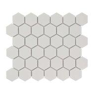 Mozaïek Barcelona 28.1x32.5 cm Geglazuurd Porselein Hexagon Mat Wit (Prijs Per 0.91 m2)