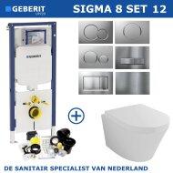 Geberit Sigma 8 (UP720) Toiletset set12 Wiesbaden Vesta 52cm Met Sigma Drukplaat
