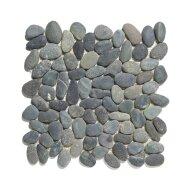 Mozaïek Natural Stone 30x30 cm Ongeïmpregneerd Kiezels En Donker Grijs (Prijs Per 1.00 m2)