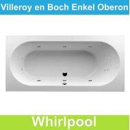 Ligbad Villeroy & Boch Oberon 190x90 cm Balboa Whirlpool systeem Enkel | Tegeldepot.nl