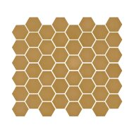 Mozaïek Valencia 27.8x32.5 cm Recycled Glas, Hexagon Mat Mosterd Geel (Prijs Per 1.00 m2)