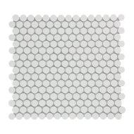 Mozaïek Venice Pennyround 31.5x29.4 cm Geglazuurd Porselein, Rond Mat Wit (Prijs Per 0.93 m2)
