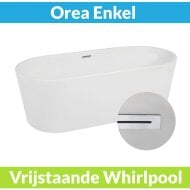 Vrijstaande Whirlpool BWS Orea 178x80x60 cm Luchtsysteem Glans Wit (afvoer optioneel)