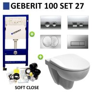 Geberit UP100 Toiletset set27 Geberit Sphinx 280 Randloos met Delta drukplaat