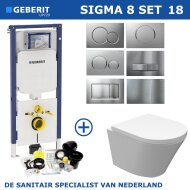 Geberit Sigma 8 (UP720) Toiletset set18 Wiesbaden Vesta Junior Rimless 47cm Met Sigma Drukplaat
