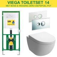 Viega EcoPlus toiletset 14 B&W Zero Diepspoel met Visign for Style 10 drukplaat