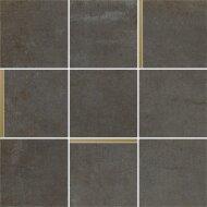 Mozaiek Arcana Avelin Plomo 30x30 cm Antraciet met Goud Detail (Doosinhoud 1.08m2)