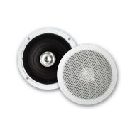 Speakerset Aquasound Jive Economy Spatwaterdicht, 50 Watt, Wit (afm. 155 mm)