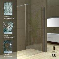 Wiesbaden Safety Glass 2.0 inloopdouche + muurprofiel 1000x2000 10mm NANO glas