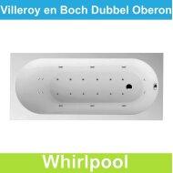 Ligbad Villeroy & Boch Oberon 180x80 cm Balboa Whirlpool systeem Dubbel | Tegeldepot.nl