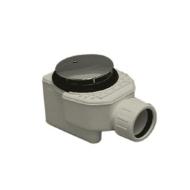 Luxe douchebaksifon met plug chroom 52 mm