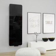 Handdoekradiator IP Cupertino Glas Zwart In 6 Verschillende Maten (Ook in elektrische uitvoering)