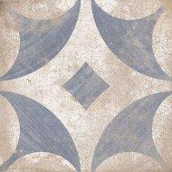 Vloertegel Ravena Blauw Bloem motief 22,5 x 22,5 cm (doosinhoud: 1 m2)