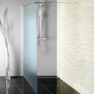 Inloopdouche Sapho Walk-In 100x190 cm met Muurprofiel Chinchilla Glas