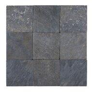 Mozaïek Parquet 10x10 Light Gray Tumble Marmer 30x30 cm (Prijs per 1m²)