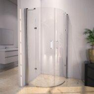 Douchecabine Sanilux Rinna kwartrond met 2 deuren 90x90cm 6mm