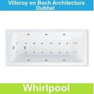Ligbad Villeroy & Boch Architectura 170 x80 cm Balboa Whirlpool systeem Dubbel | Tegeldepot.nl