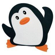 Antislip Plakkers Differnz Mini Mat Deco 11x12 cm Penguin (6 stuks)