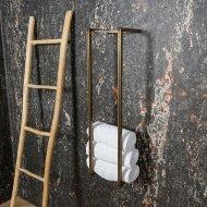 Handdoekenrek BWS Industrieel 95x25x20 cm Staal Glanzend Goud