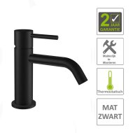 Wastafelmengkraan Boss & Wessing Exclusive 1-hendel Mat Zwart