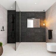 Spiegelkast BWS Valencia 100x70x16 cm met Twee Deuren Carrara Mat