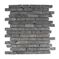 Mozaïek Horizontaal 15 Gray Marmer 30x30 cm (Prijs per 1m²)