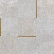 Mozaiek Arcana Avelin Ceniza 30x30 cm Licht Grijs met Goud Detail (Doosinhoud 1.08m2)