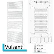 Handdoekradiator Vulsanti 1702 x 600 mm Wit structuur