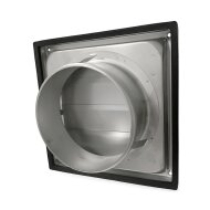 Overdrukrooster BWS Ventilatie Aansluitmaat Ø 150mm RVS