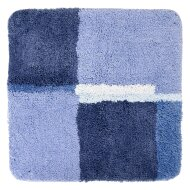 Badmat Differnz Cubes Antislip 60x60 cm Microfiber Blauw