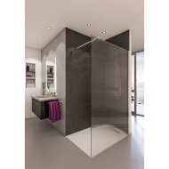 Inloopdouche BWS Free Time 100x200 cm Ribbel Timeless Coating Chroom