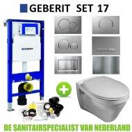 Geberit UP320 Toiletset set17 Gustavsberg Saval met Sigma drukplaat