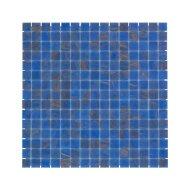 Mozaïek Amsterdam Goud 32.2x32.2 cm Glas Met Goude Ader En Blauw (Prijs Per 1.04 m2)