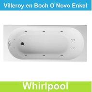 Ligbad Villeroy & Boch O.novo 170x75 cm Balboa Whirlpool systeem Enkel | Tegeldepot.nl