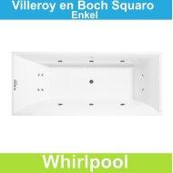 Ligbad Villeroy & Boch Squaro 180x80 cm Balboa Whirlpool systeem Enkel | Tegeldepot.nl