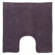 Toiletmat Differnz Candore Antislip 60x60 cm Microfiber Aubergine