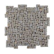 Mozaïek Random Small Light Brown Marmer 30x30 cm (Prijs per 1m²)