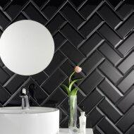 Wandtegel Metro 10x20 hoogglans zwart (p/m2)