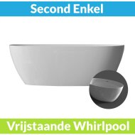 Vrijstaande Whirlpool BWS Second 170x82x58 cm Luchtsysteem Glans Wit (afvoer optioneel)