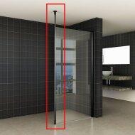 Verticale Stabilisatiestang met Plafond Bevestiging Mat Zwart voor 10 mm wand