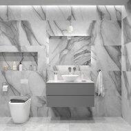 Badkamermeubelset Gliss Zeus 100 cm Beton Grijs Met Waskom