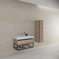 Badkamermeubelset BWS Harper 100 cm Incl Kolom Mat Zwart