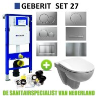 Geberit UP320 Toiletset set27 Geberit Sphinx 280 Randloos met Sigma drukplaat