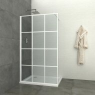 Inloopdouche Allibert Walk-In 140x200 cm 8mm Industrieel Wit Raster (incl. stabilisatiestang)