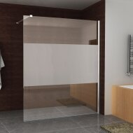 BWS Douchewand Reno met Middenband 160x200 cm 8 mm NANO Coating