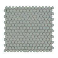 Mozaïek Venice Pennyround 31.5x29.4 cm Geglazuurd Porselein, Rond Glanzend Licht Groen (Prijs Per 0.93 m2)