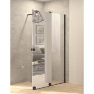 Inloopdouche met Schuifdeur BWS Pure Day 100x200 cm Rechts Spiegelglas Zwart