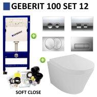 Geberit UP100 set12 Wiesbaden Vesta 52 cm met Delta drukplaat